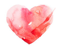 Watercolour heart isolated on white background Stock Photo