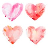 Watercolour heart isolated on white background Royalty Free Stock Images