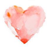 Watercolour heart isolated on white background Stock Photography