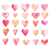 Watercolour heart isolated on white background Royalty Free Stock Photography
