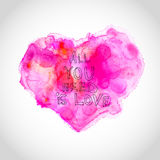Watercolour heart with love letters. This is file of EPS10 format Royalty Free Stock Photo