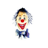 Watercolour illustration of clown. Original watercolour illustration of clown Stock Photography