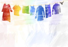 Watercolour Illustrations Stock Photography