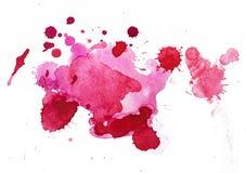 Watercolour kleksy Zdjęcie Stock