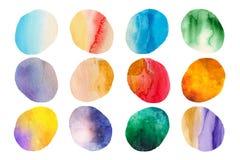 Watercolour krople Zdjęcie Stock