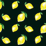 Watercolour lemon element. concept vivid fashion backdrop Royalty Free Stock Images