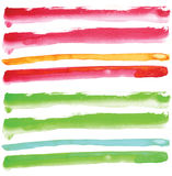 Watercolour line element Stock Photography