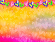 Watercolour Love Heart Background Paper royalty free illustration