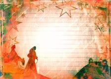 Watercolour Mary & Joseph Bożenarodzeniowy papier Zdjęcie Royalty Free