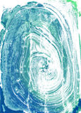 Watercolour Monoprint. Monoprints created on a glass sheet with watercolour paint, scanned at high res stock illustration