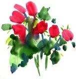 Schilderende bloemen stock illustratie