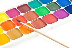 Watercolour paint Stock Photo