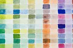 Watercolour Paint Chart Royalty Free Stock Photography