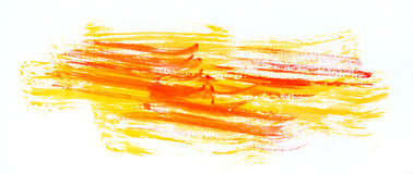 Watercolour paint strokes Stock Images