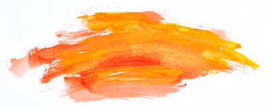 Watercolour paint strokes Stock Photos