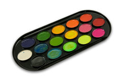watercolour paint tray Royalty Free Stock Images