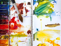 Watercolour paintbox Royalty Free Stock Photo