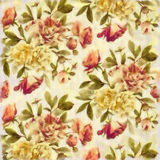 Watercolour painted roses on fabric Royalty Free Stock Images