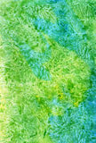 Watercolour painting bright green marble background, cute illustration for different design, for web and print used stock image
