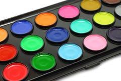 Watercolour paints Royalty Free Stock Photos