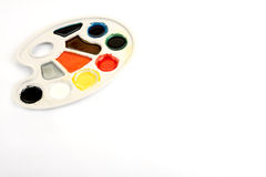 Watercolour palette Stock Photography