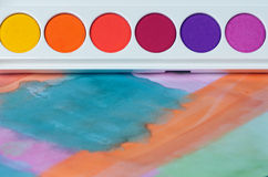 Watercolour palette Royalty Free Stock Image