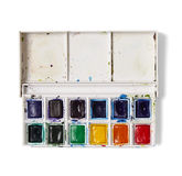 Watercolour palette royalty free stock photo