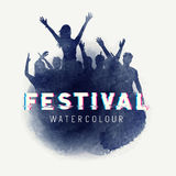 Watercolour party Crowd Royalty Free Stock Photography