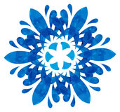 Watercolour pattern - Blue abstract flower Stock Photos