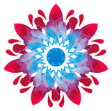 Watercolour pattern - Blue-rose abstract flower Royalty Free Stock Photography