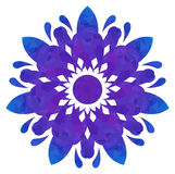 Watercolour pattern - Blue-violet abstract flower Royalty Free Stock Photography