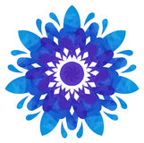 Watercolour pattern - Blue-violet abstract flower Stock Photography