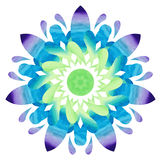Watercolour pattern - Colourful abstract flower Stock Photography
