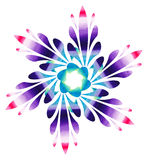 Watercolour pattern - Colourful abstract flower Stock Photos