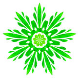 Watercolour pattern - Green abstract flower Royalty Free Stock Photo