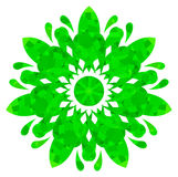 Watercolour pattern - Green abstract flower Stock Images