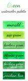 Watercolour pattern - Green watercolors Stock Image