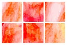 Watercolour pattern - Orange-red patterns Stock Image