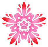 Watercolour pattern - Red-rose abstract flower Stock Photography