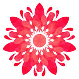 Watercolour pattern - Rose abstract flower Stock Photo