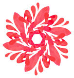 Watercolour pattern - Rose abstract flower Stock Photos