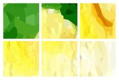 Watercolour pattern - Set of green-yellow patterns Royalty Free Stock Image