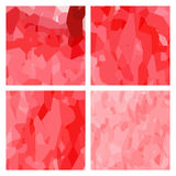 Watercolour pattern - Set of red patterns Stock Photography