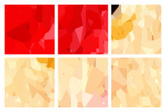 Watercolour pattern - Set of red-yellow patterns Royalty Free Stock Image