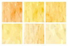 Watercolour pattern - Set of yellow patterns Royalty Free Stock Photos