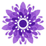 Watercolour pattern - Violet abstract flower Stock Photo