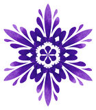 Watercolour pattern - Violet abstract flower Stock Photography