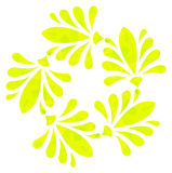 Watercolour pattern - Yellow abstract flower Royalty Free Stock Image