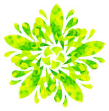 Watercolour pattern - Yellow-green abstract flower Stock Photos