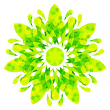 Watercolour pattern - Yellow-green abstract flower Royalty Free Stock Images